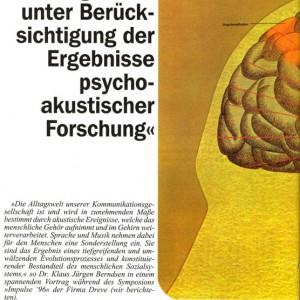 Artikelvorschau: Die Adaption von Hörgeräten unter Berücksichtigung der Ergebnisse psychoakustischer Forschung