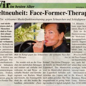 Artikelvorschau: Weltneuheit - Face-Former-Therapie