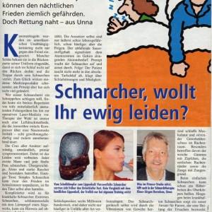 Artikelvorschau: Schnarcher, wollt ihr ewig leiden?