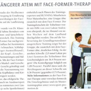 Artikelvorschau: Längerer Atem mit Face-Former-Therapie